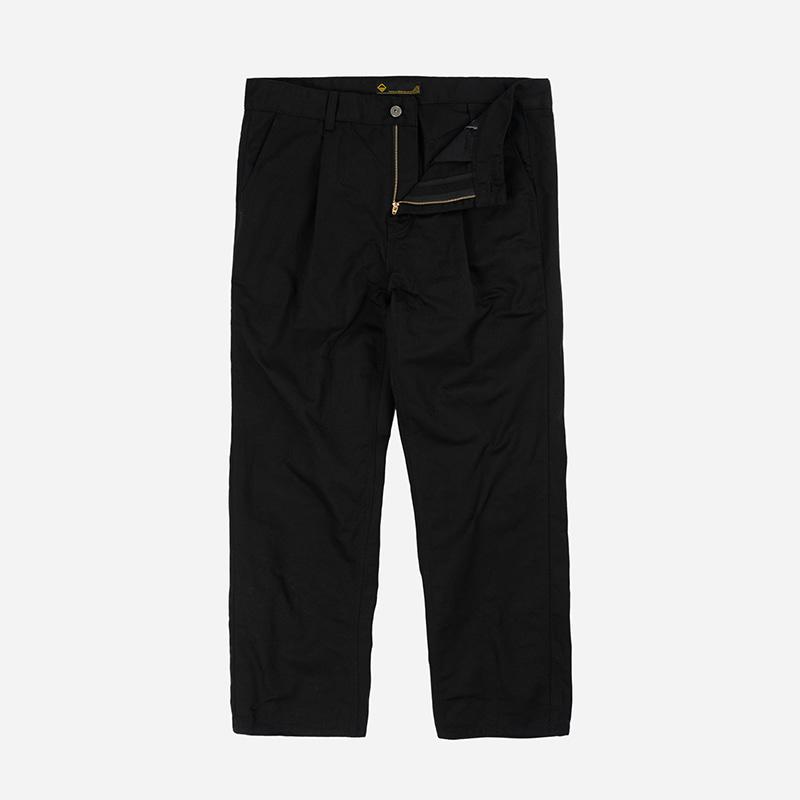 Carpenter one tuck pants _ black