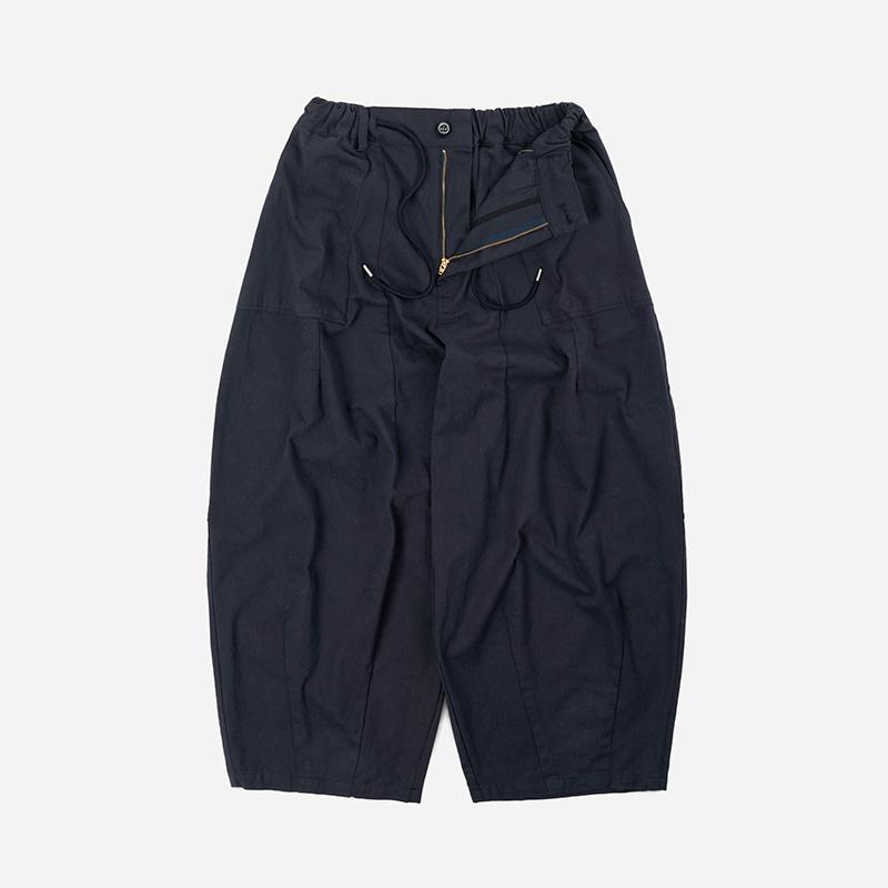 Twill balloon pants _ navy