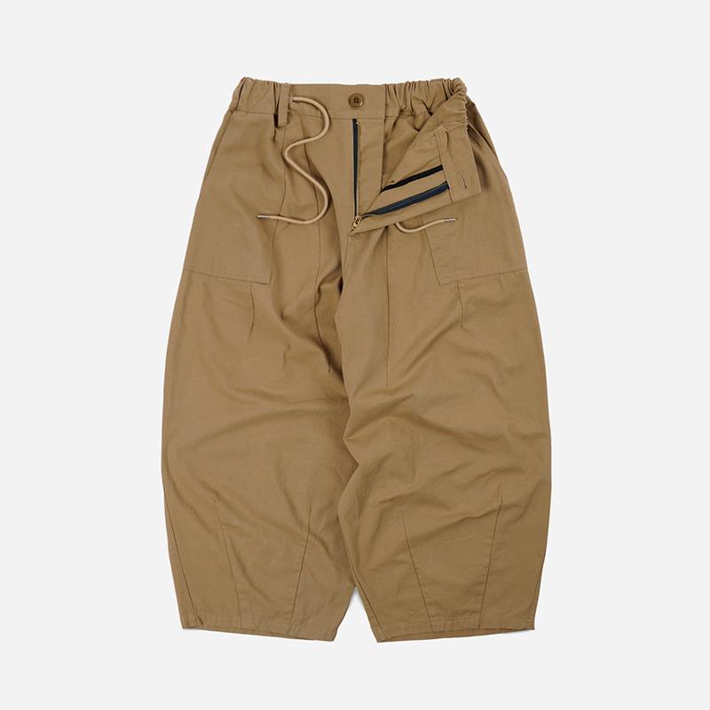 Twill balloon pants _ beige