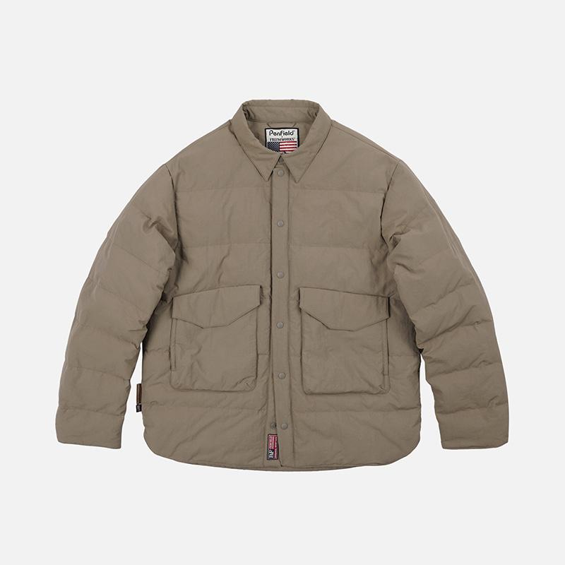 [PENFIELD X FRIZMWORKS]Camouflage down shirt jacket _ beige