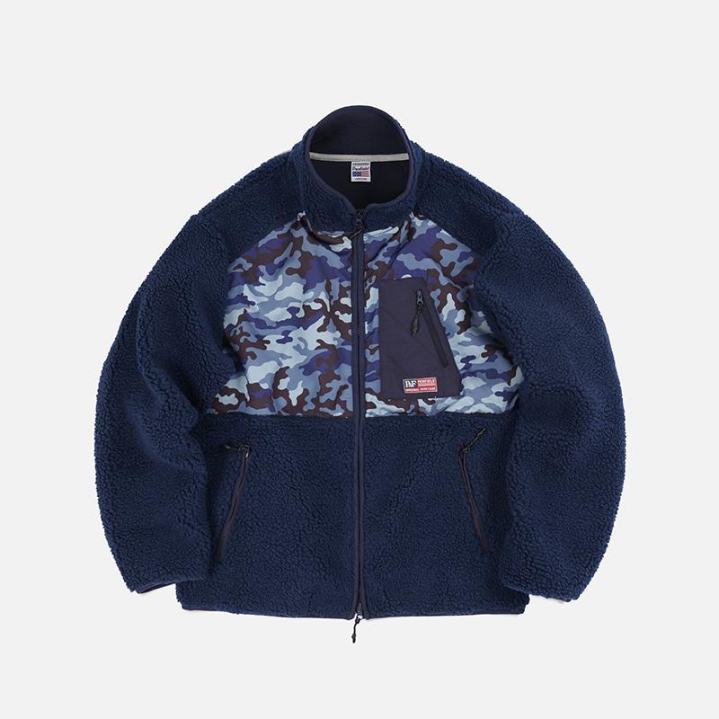[PENFIELD X FRIZMWORKS]Camouflage fleece jacket _ navy