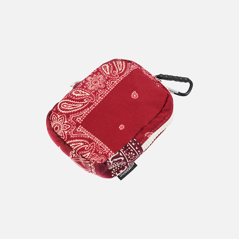 [FWS X RMTC] Bandana karabiner pouch _ red