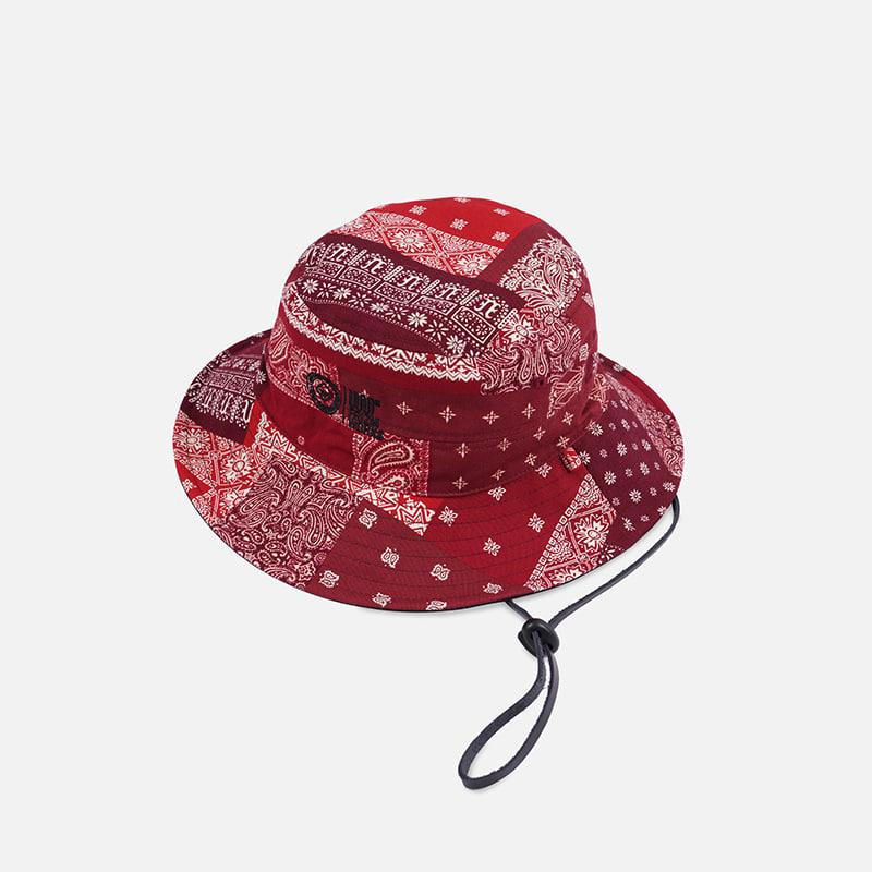 [FWS X USS2] Reversible bandana bucket hat _ red