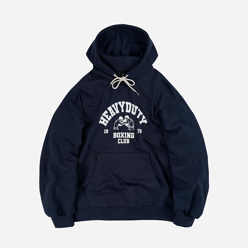 Boxing club boxer hoody _ navy