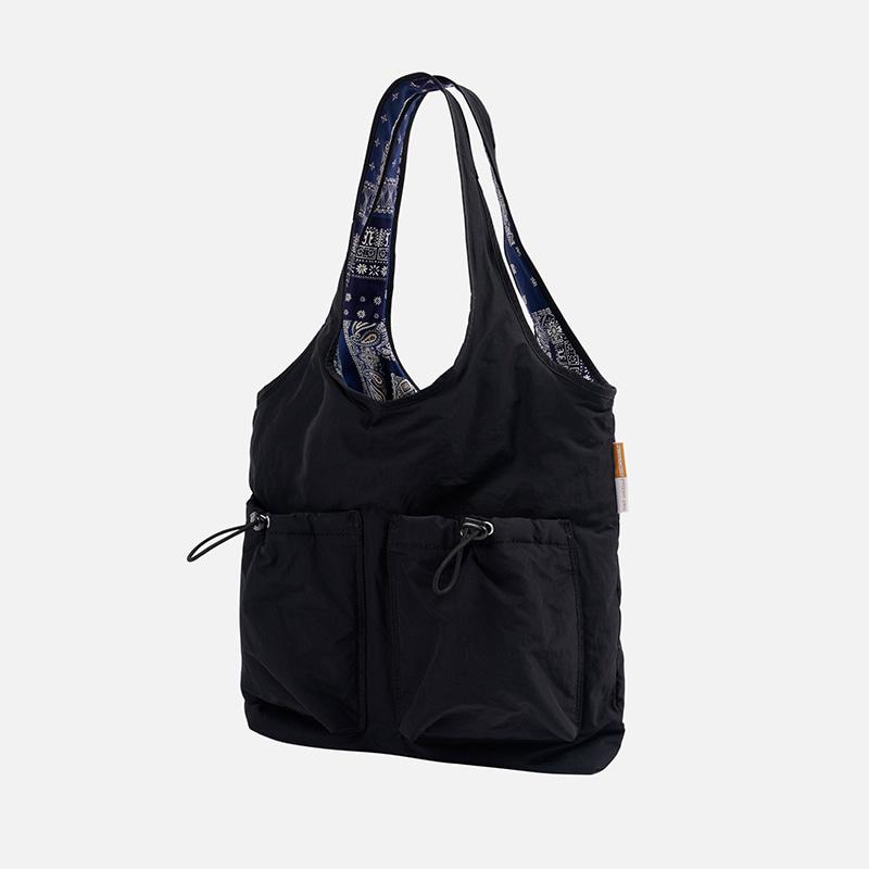 [FWS X MAZI UNTITLED] reversible bandana bore bag _ black