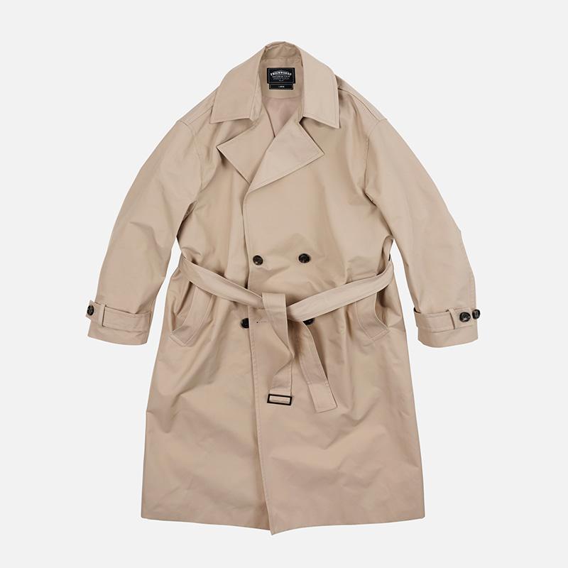 Oversized minimal trench coat _ beige