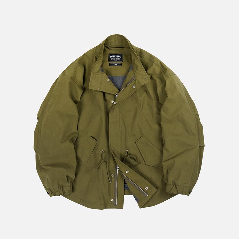 Oscar fishtail jacket _ olive