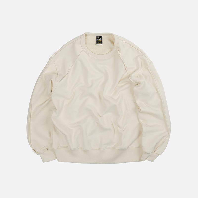 Piping sweatshirt 002 _ ivory