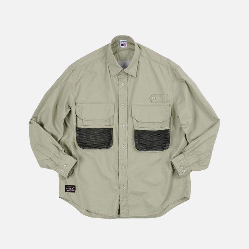 [PENFIELD X FRIZMWORKS] Fishing utility shirt _ light khaki