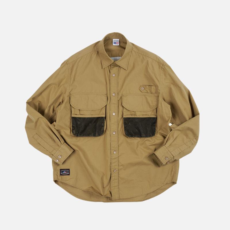 [PENFIELD X FRIZMWORKS] Fishing utility shirt _ beige