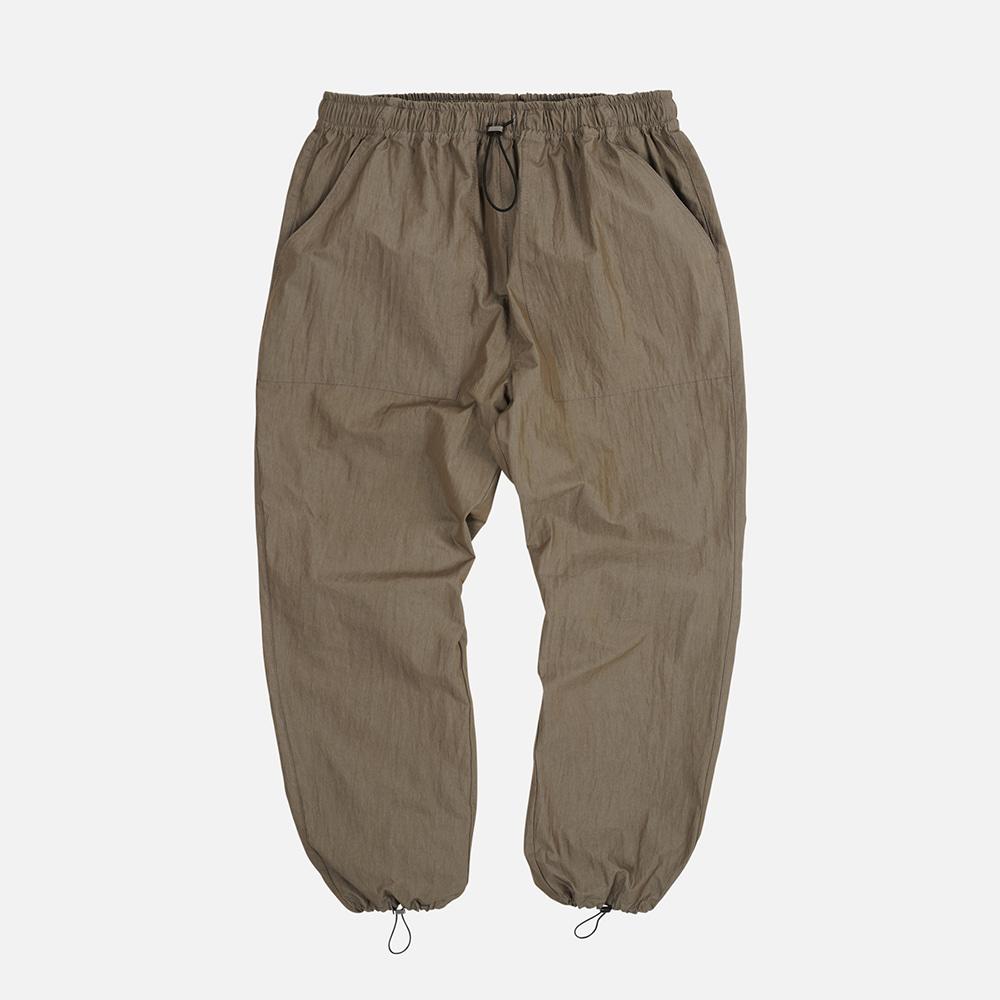 Nylon fatigue easy pants _ brown