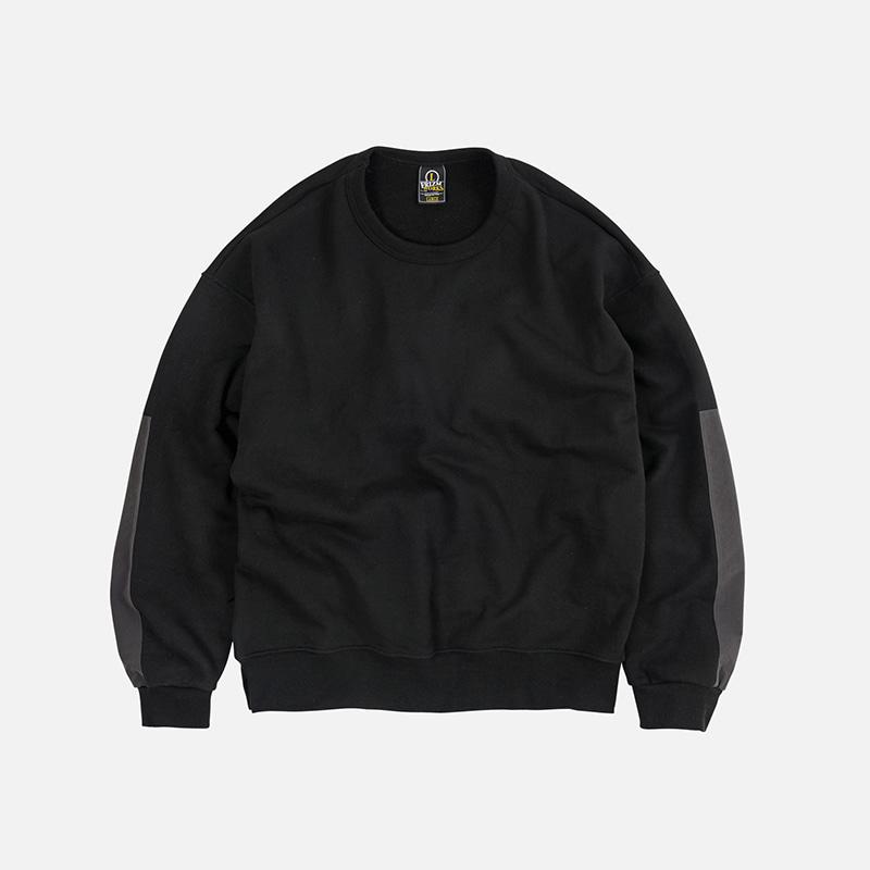 Nylon ripstop sweatshirt _ black