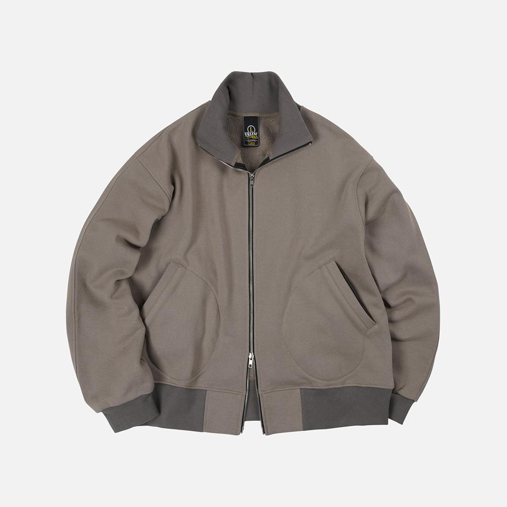 Heavyweight sweat tanker jacket _ ash khaki