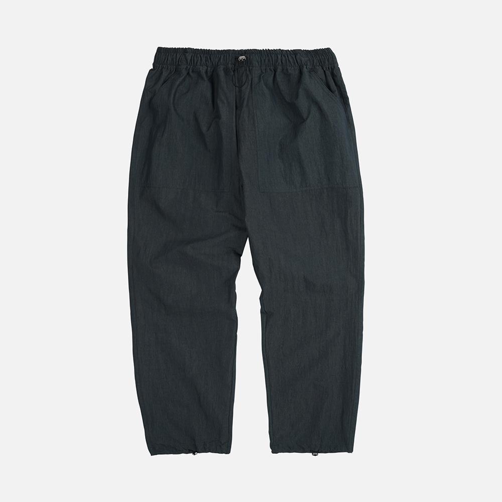 Nylon fatigue easy pants _ black