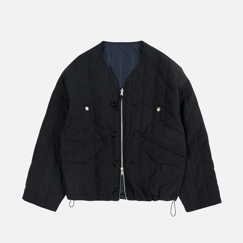 NYCO Quilted cardigan _ black