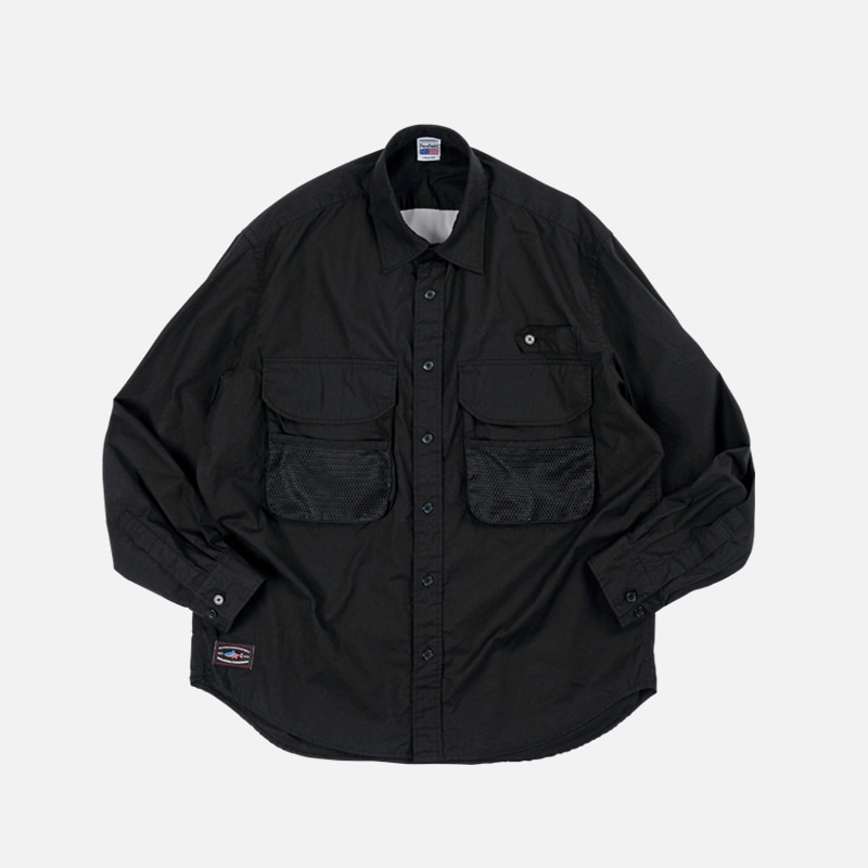 [PENFIELD X FRIZMWORKS] Fishing utility shirt _ black