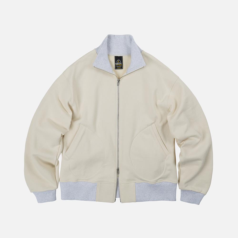 Heavyweight sweat tanker jacket _ oatmeal
