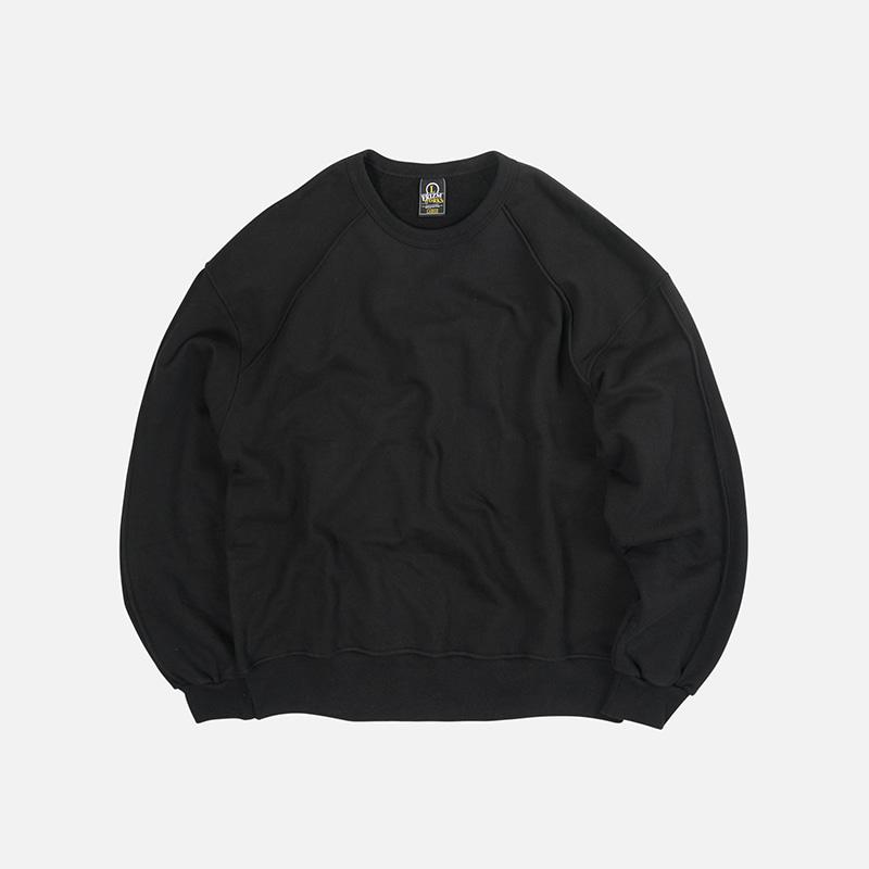Piping sweatshirt 002 _ black