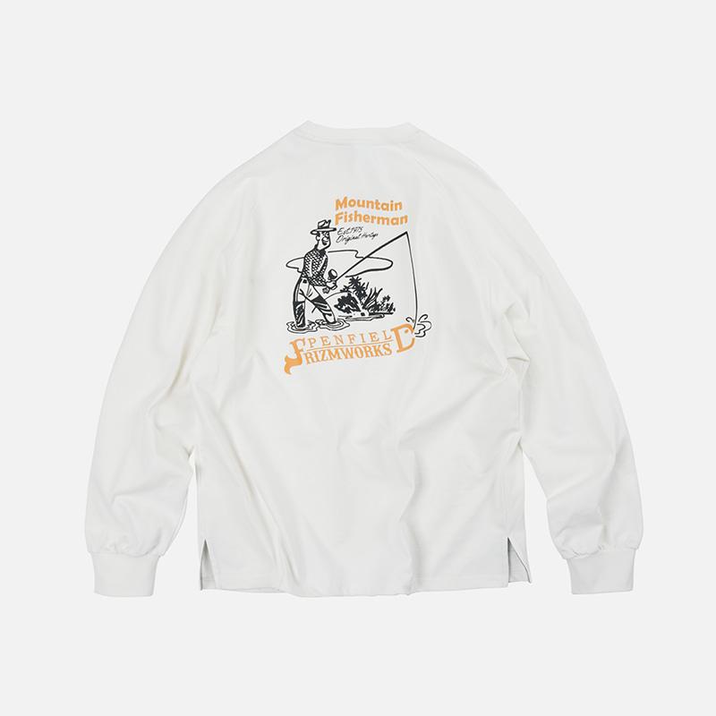 [PENFIELD X FRIZMWORKS] P&F Fisherman long sleeve _ white