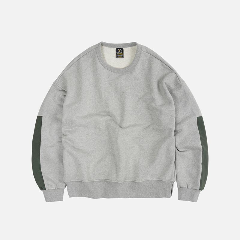 Nylon ripstop sweatshirt _ gray