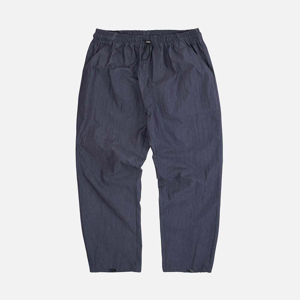 Nylon fatigue easy pants _ navy