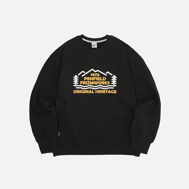 [PENFIELD X FRIZMWORKS] Forest logo sweatshirt _ black