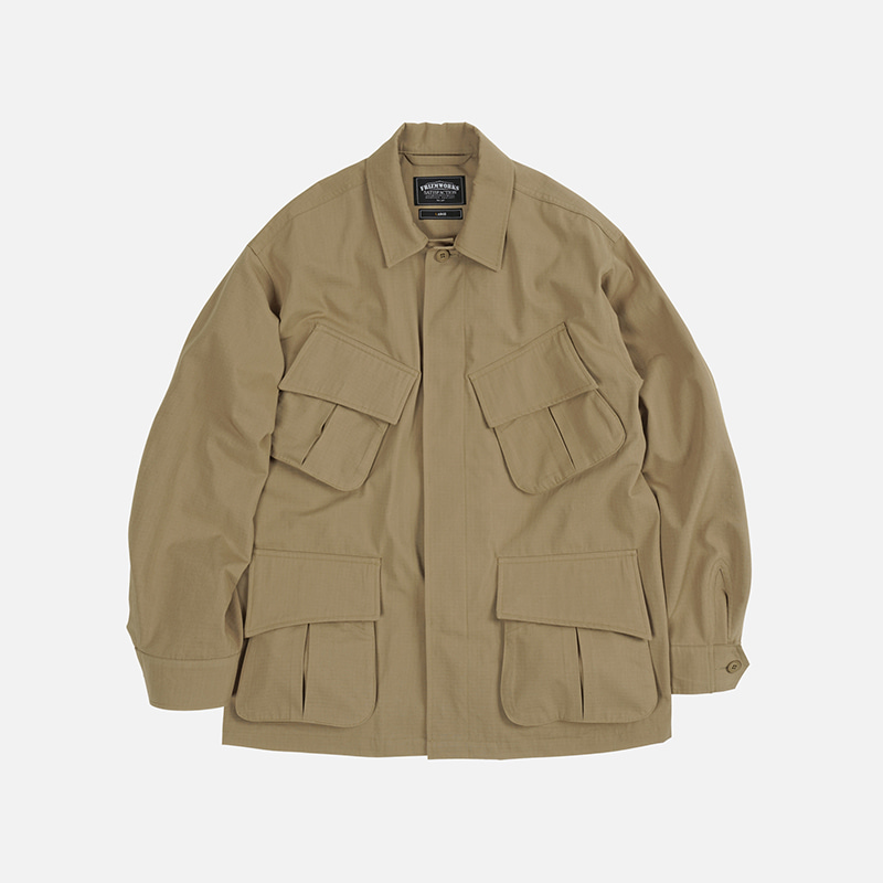 Oversized jungle fatigue jacket _ beige