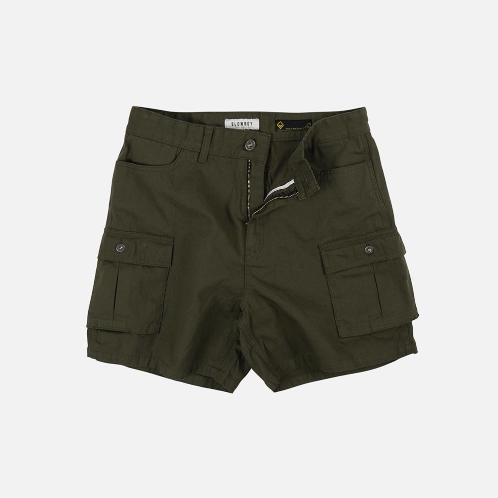 [SLOW BOY X FRIZMWORKS] Oversized cargo short pants _ olive