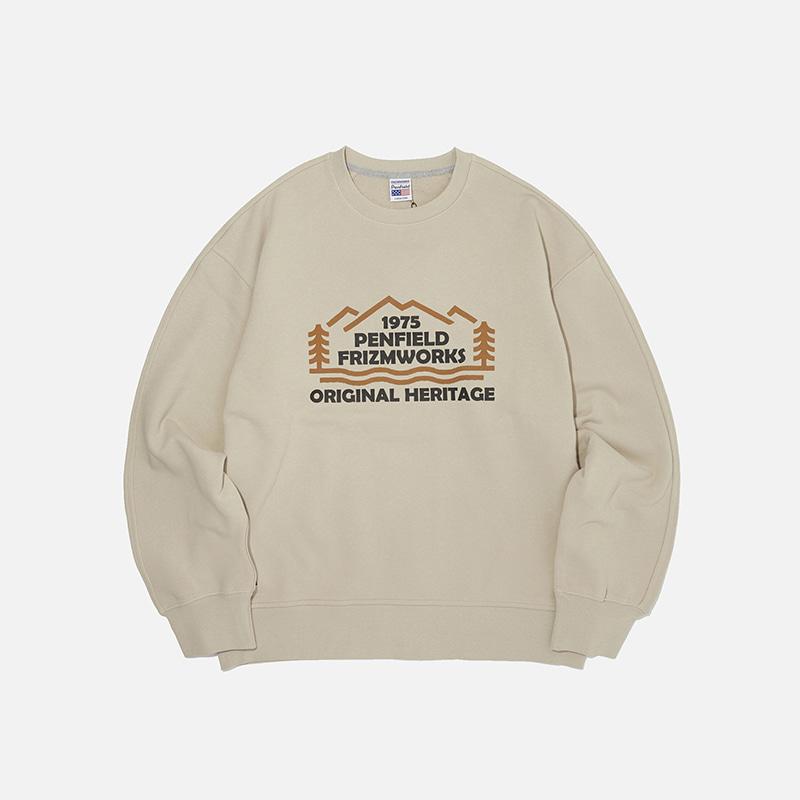 [PENFIELD X FRIZMWORKS] Forest logo sweatshirt _ beige
