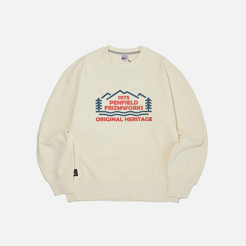 [PENFIELD X FRIZMWORKS] Forest logo sweatshirt _ ivory