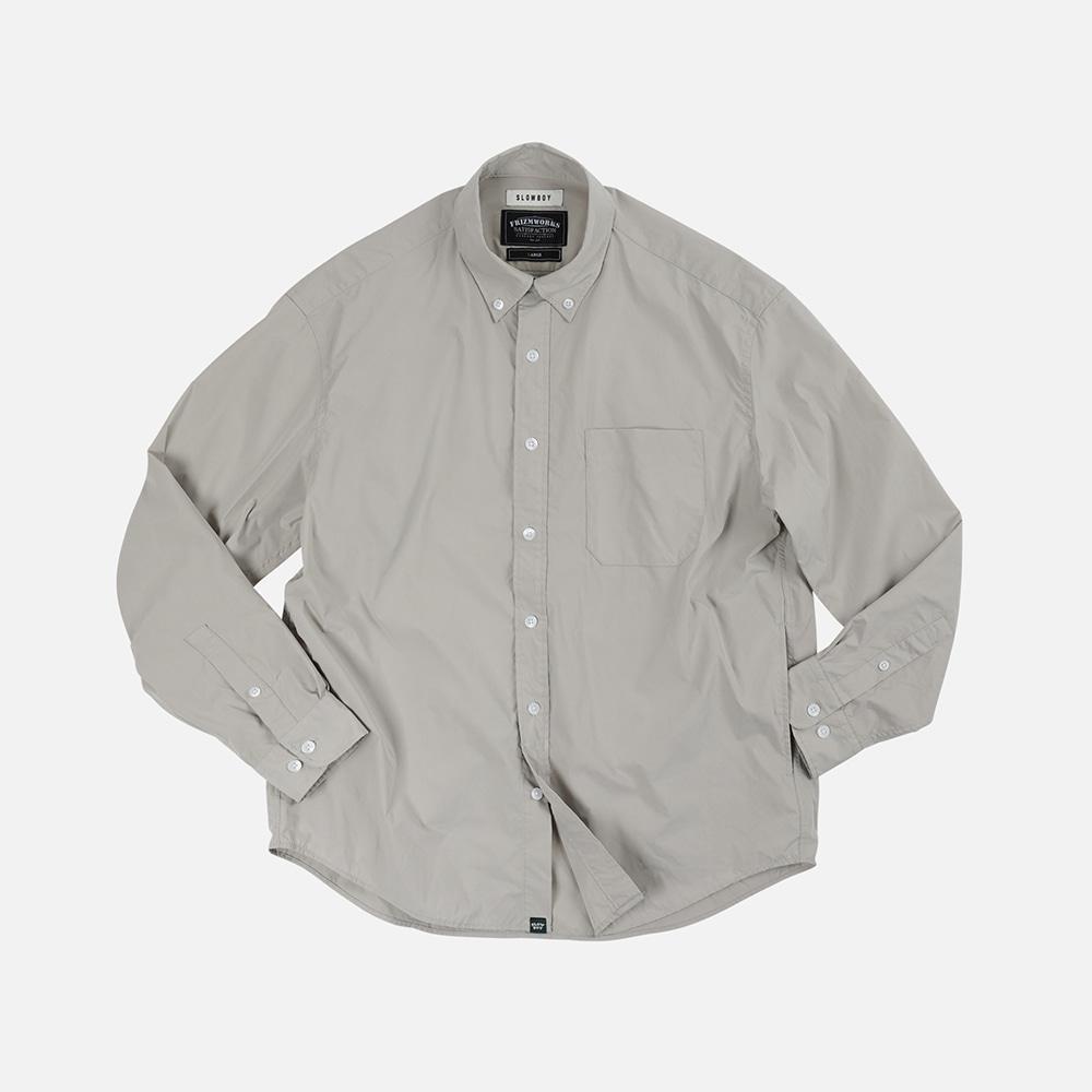 [SLOW BOY X FRIZMWORKS] Oversized button down shirt _ light gray