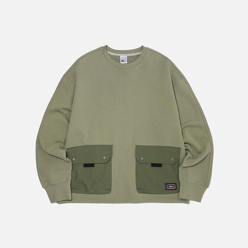 [PENFIELD X FRIZMWORKS] NYCO Pocket sweatshirt _ light khaki