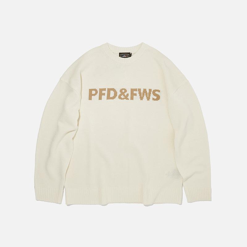 [PENFIELD X FRIZMWORKS] PFD&FWS Logo knit _ ivory
