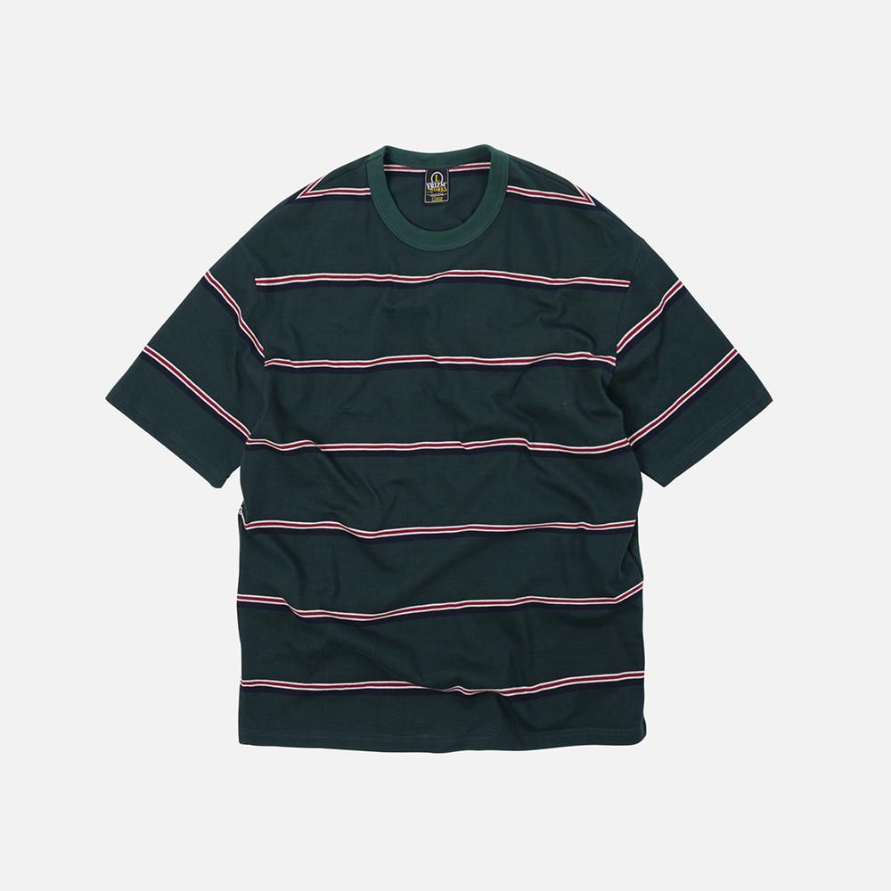 Mild stripe tee _ dark green