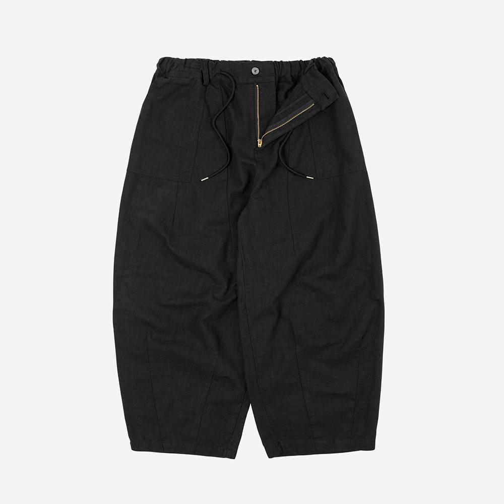 Linen balloon pants _ black