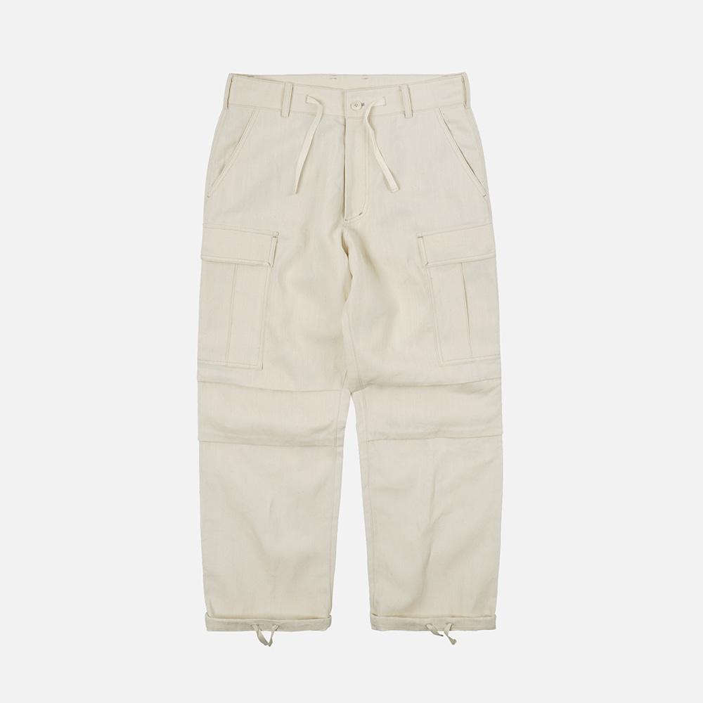 Linen m65 cargo pants _ natural