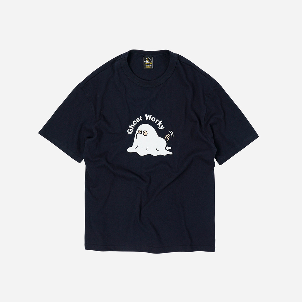 Ghost worky tee _ navy