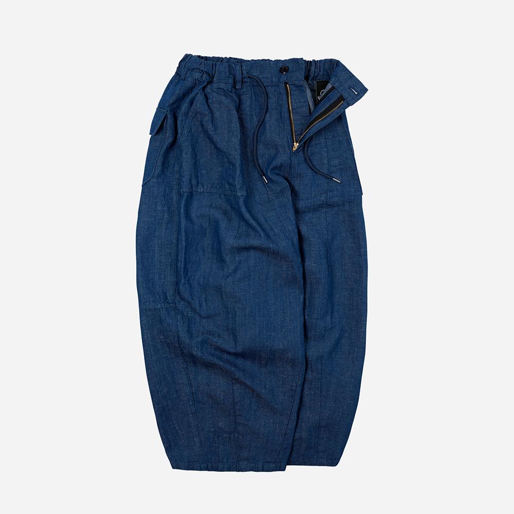 Denim balloon pants _ blue