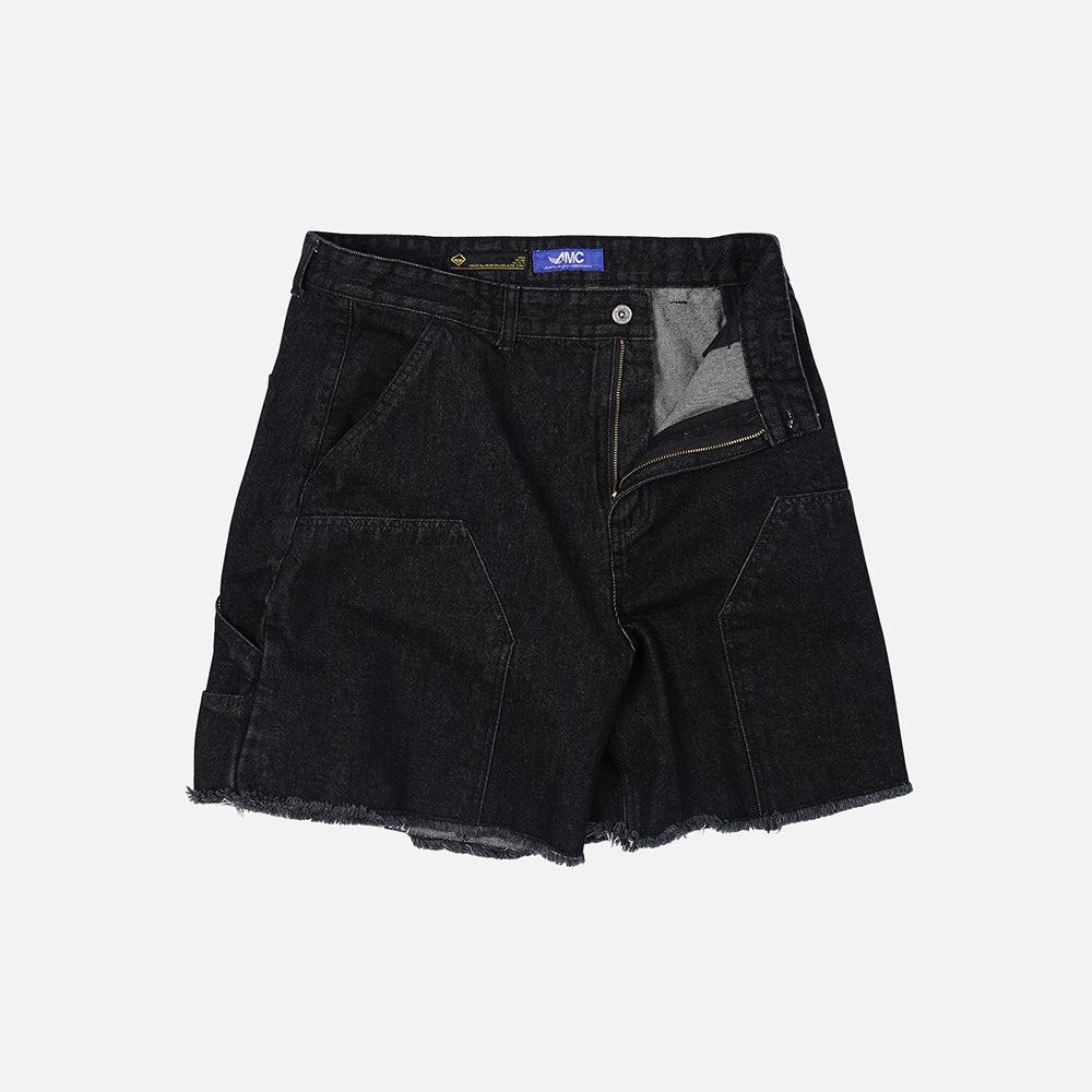 Double knee half pants _ black