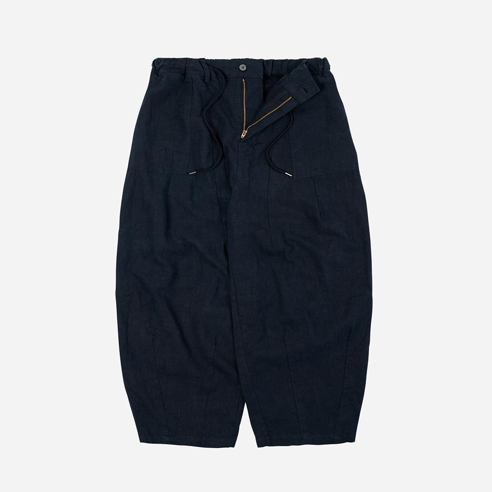 Linen balloon pants _ navy
