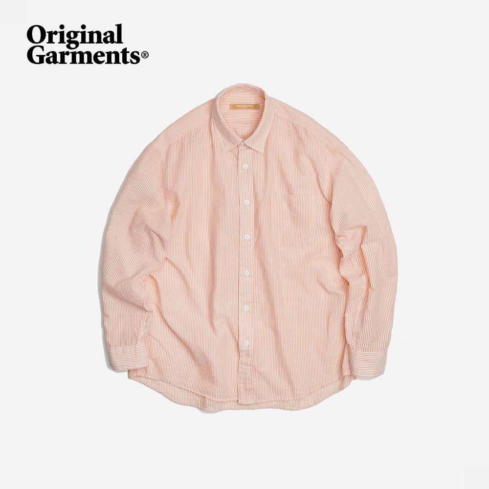 OG Stripe seersucker shirt _ orange