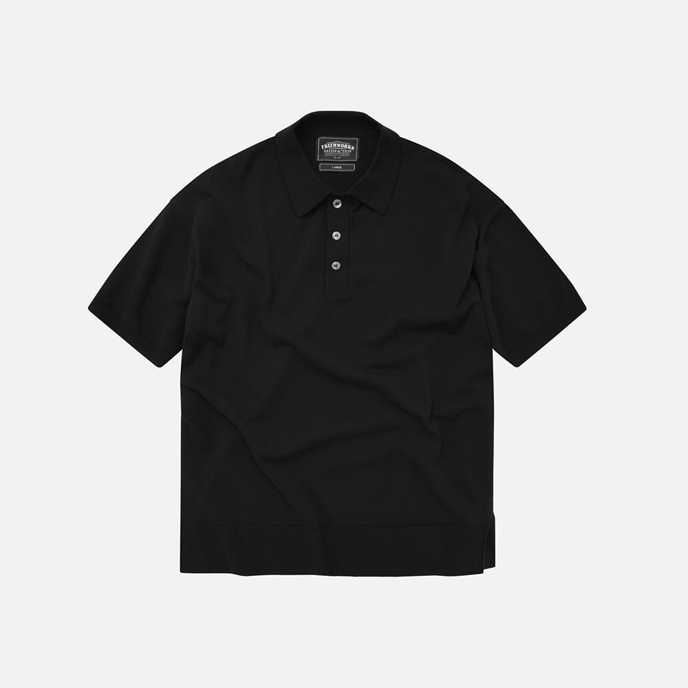 Oversized half collar knit _ black