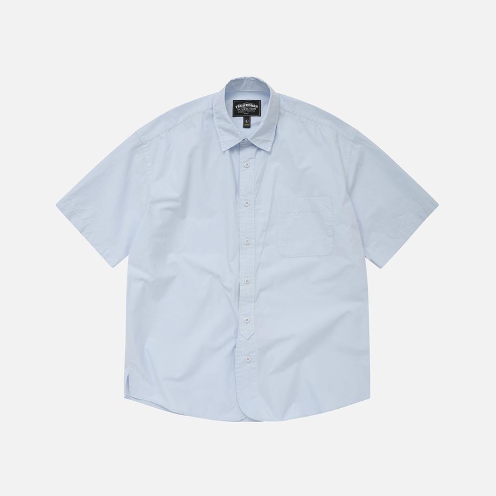 Rounding oversized shirt _ sky blue[예약 배송]7월 29일 순차배송