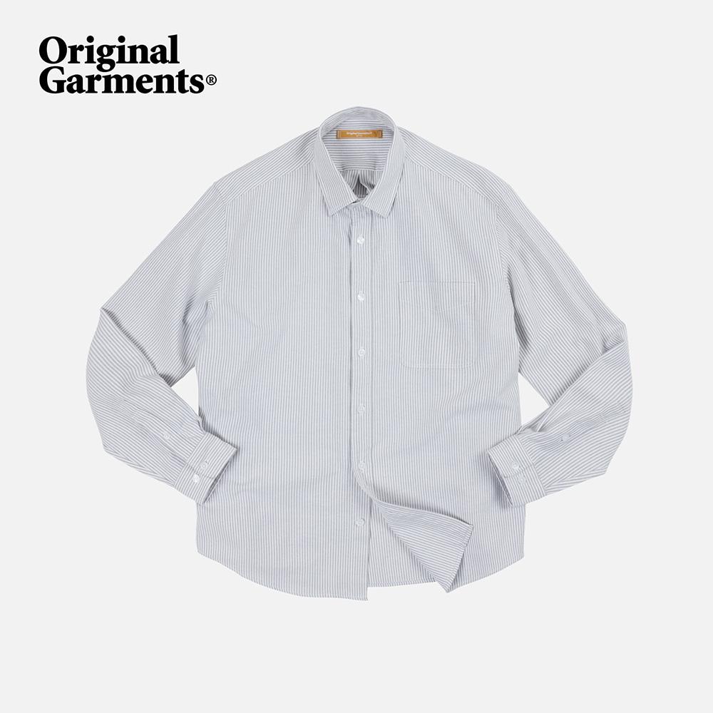 OG Stripe oversized shirt _ gray