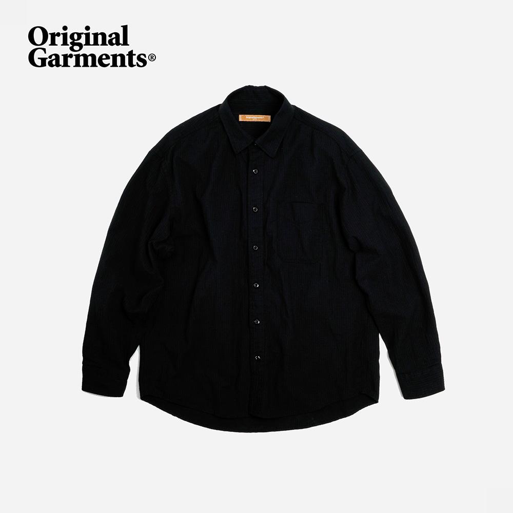 OG Dobby weave seersucker shirt _ black