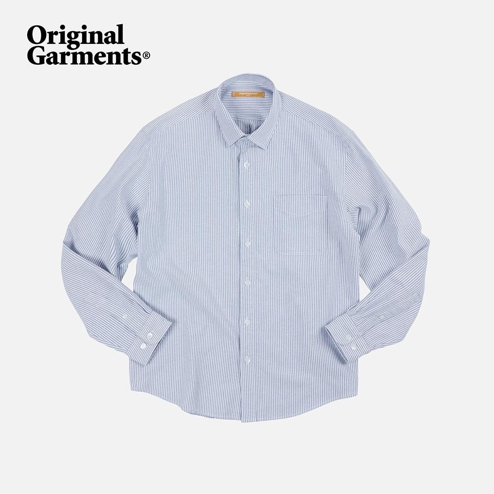 OG Stripe oversized shirt _ blue