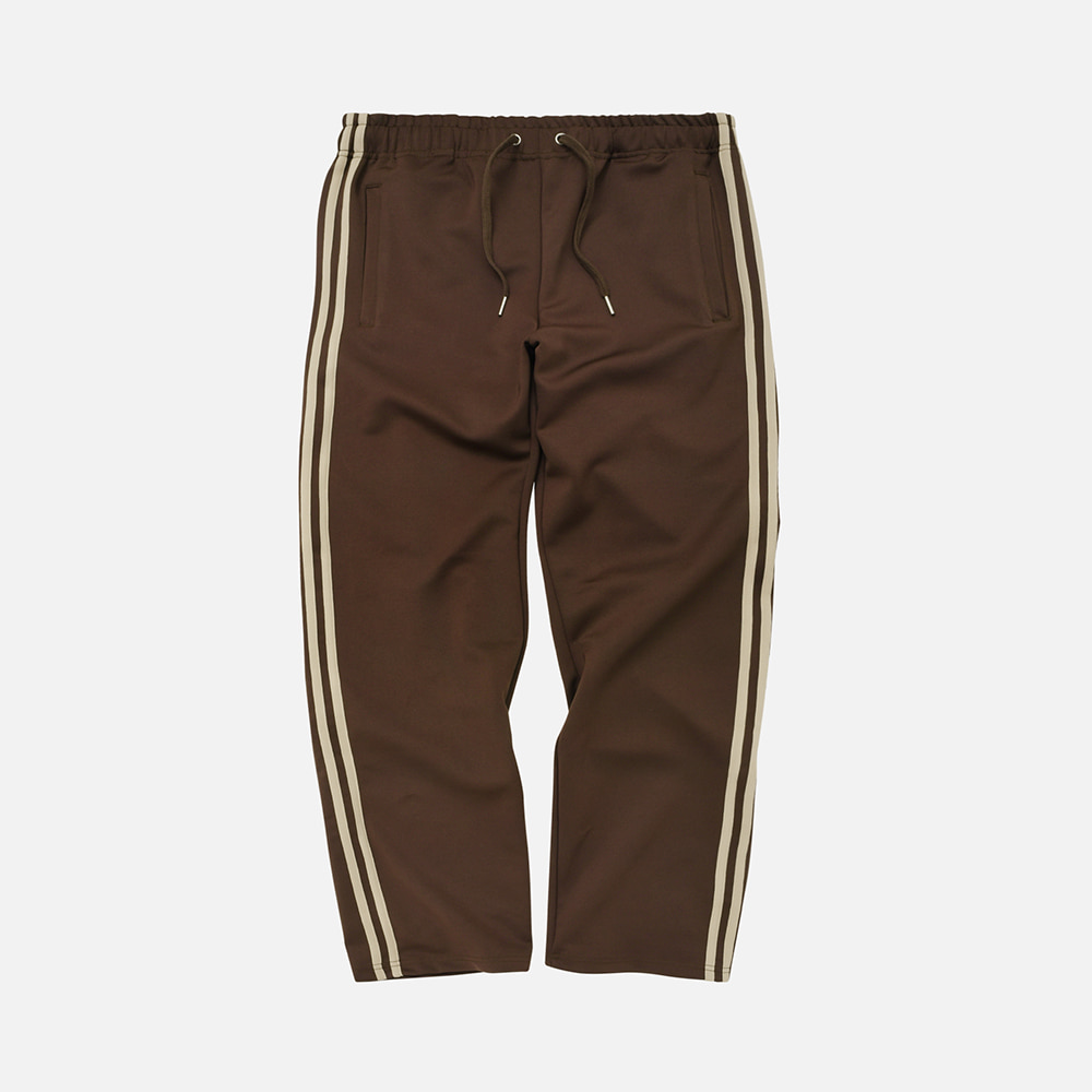 Stretch track pants _ brown