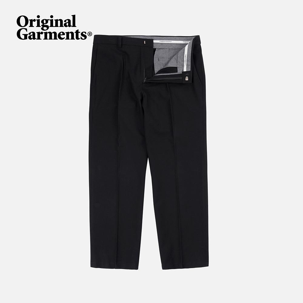 OG Wool regular slacks _ black