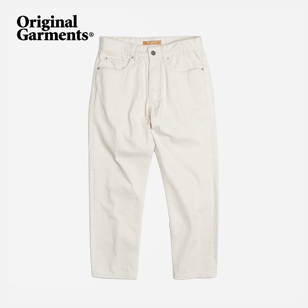 OG Tapered ankle cotton pants _ oatmeal
