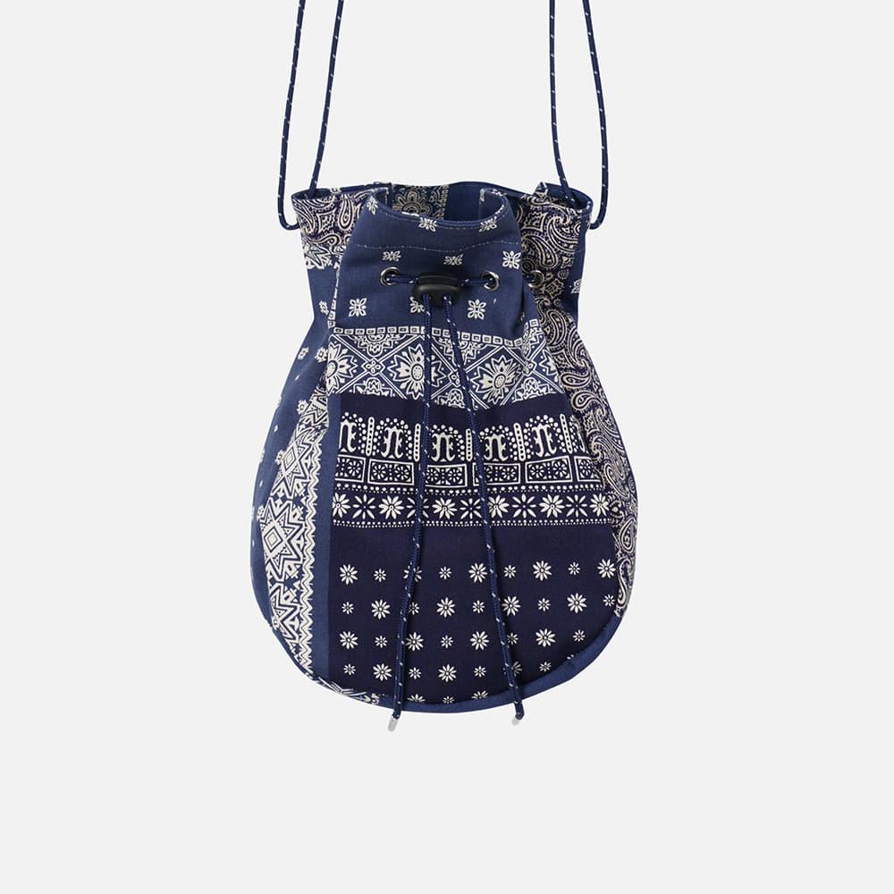 Bokjori string bag _ bandana blue